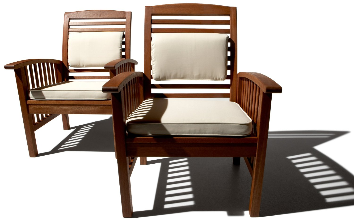 strathwood gibranta all weather hardwood arm chair set of 2 - Patio Chair Cushions Clearance
